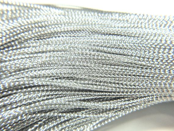 80-83M about 90 Yds METALLIC SILVER CORD by ArtJewelryBeadsNMore