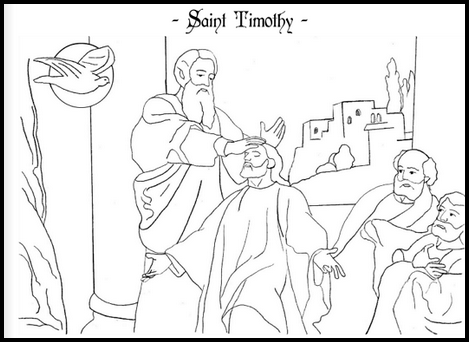 Saint Timothy Catholic Coloring Page Feast Day Is In January Online Sources Vary Stating Either The Or Of