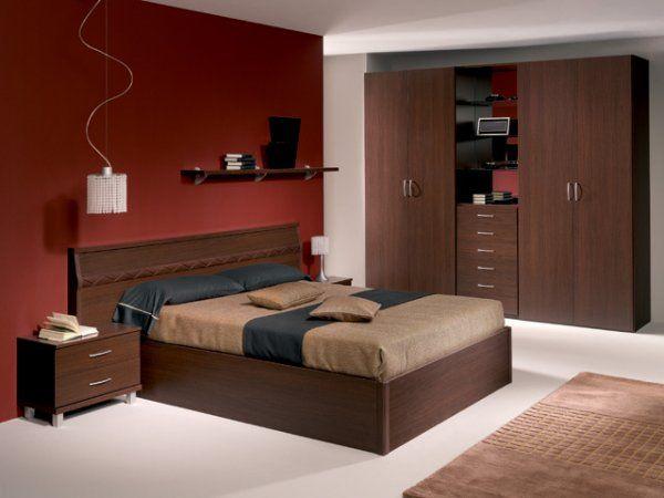 este dormitorio moderno y elegante presenta una decoracin de interiores en tonos de marrn que resulta muy sobria y de buen gusto podemos observar una - Pintura Habitacion Matrimonio