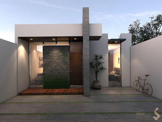 Fachadas De Casas Modernas De Un Piso Fachadas De Casas Sencillas Fachadas Modernas Para Casas Fachadas De C Fachadas De Casas Modernas Casas Modernas Casas