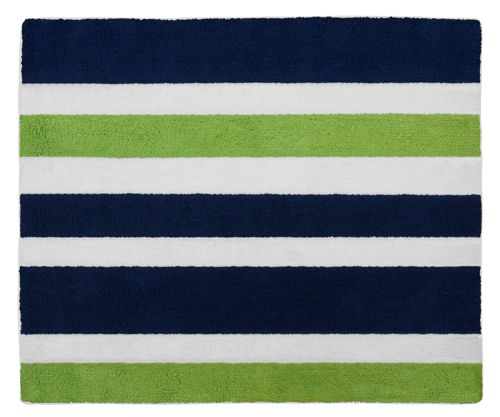Modern White Navy And Lime Striped Accent Floor Rug By Sweet Jojo Designs Blue Gray Area Rug Sweet Jojo Designs Striped Bath Rug