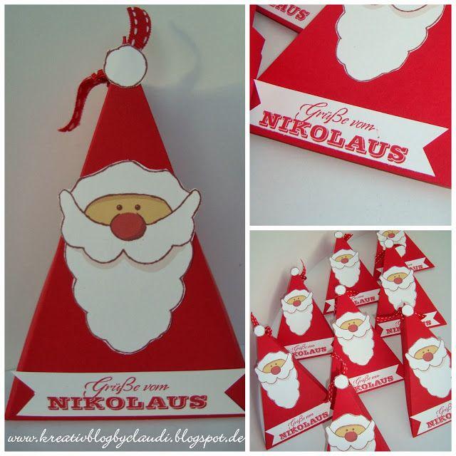 Dreiecksschachtel Nikolaus New Year Basteln Weihnachten