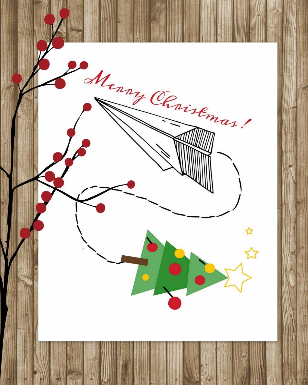 Unusual Unique Christmas Greeting Card Minimalist Illustration