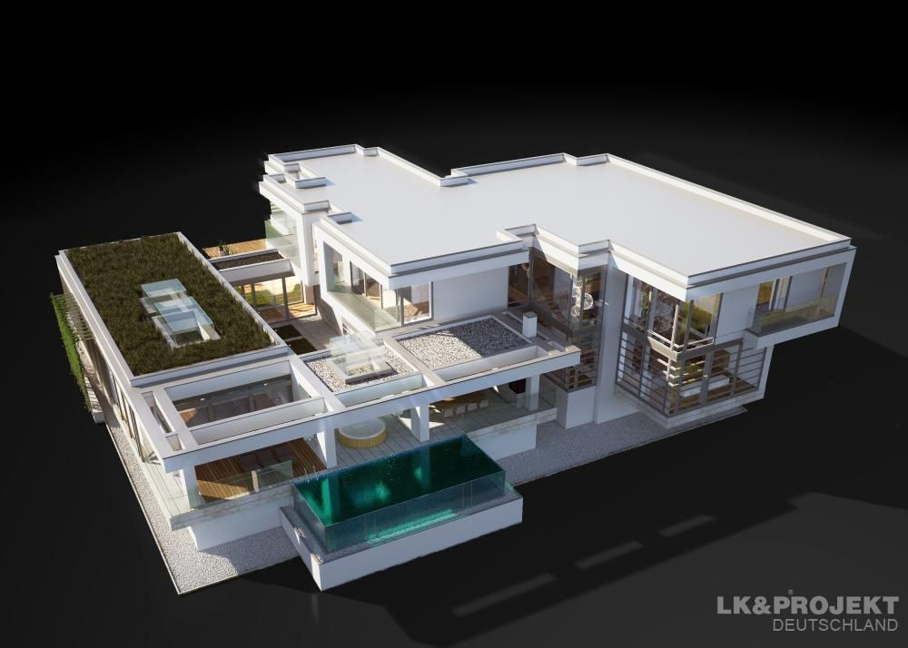 LK&1265 | grundriss winkelbungalow | Pinterest