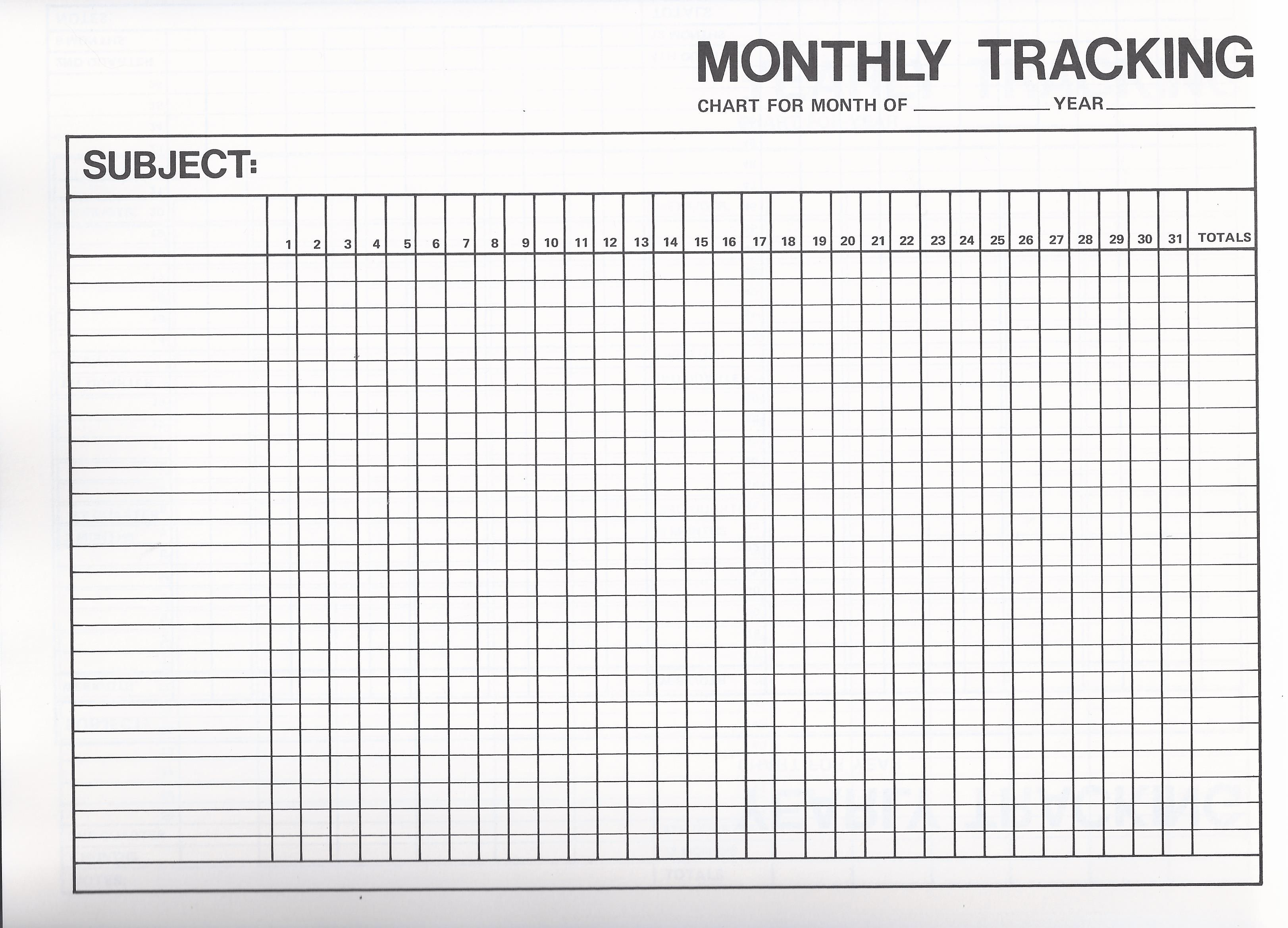 Image Result For Monthly Goal Tracker Template