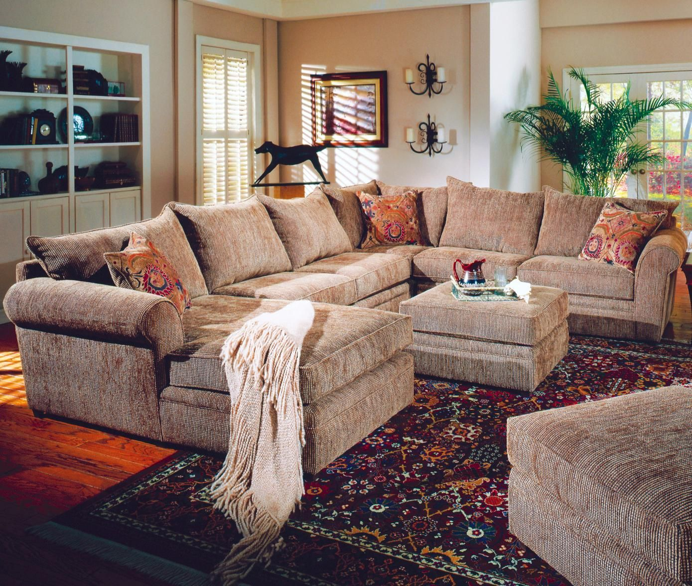 hate the room but love the idea of a tan oversized sectional home rh pinterest com