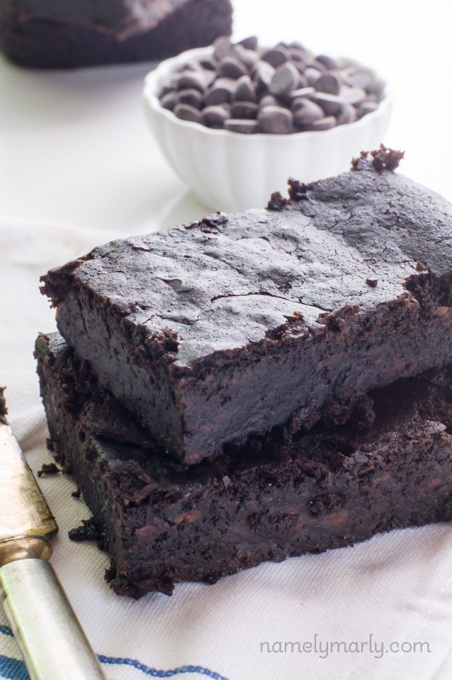 Vegan Fudgy Black Bean Brownies Vegan Sweets Brownie Recipes Vegan Brownie
