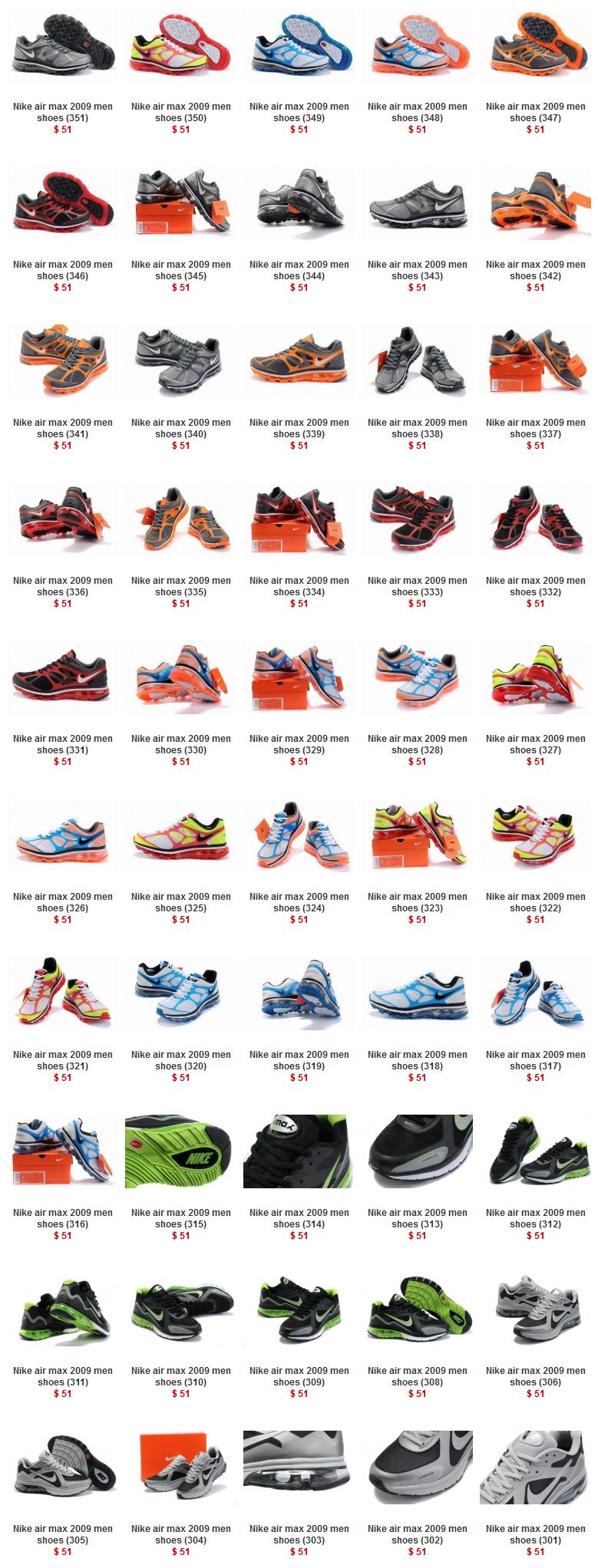 Nike air max 2009 men shoes size below: