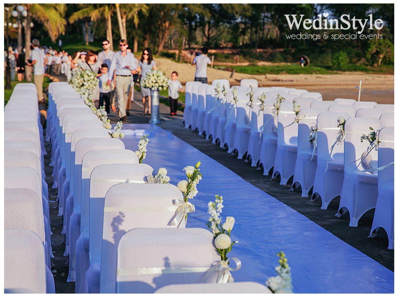Wedding aisle Beach wedding Vinpearl Phu Quoc Resort Vietnam