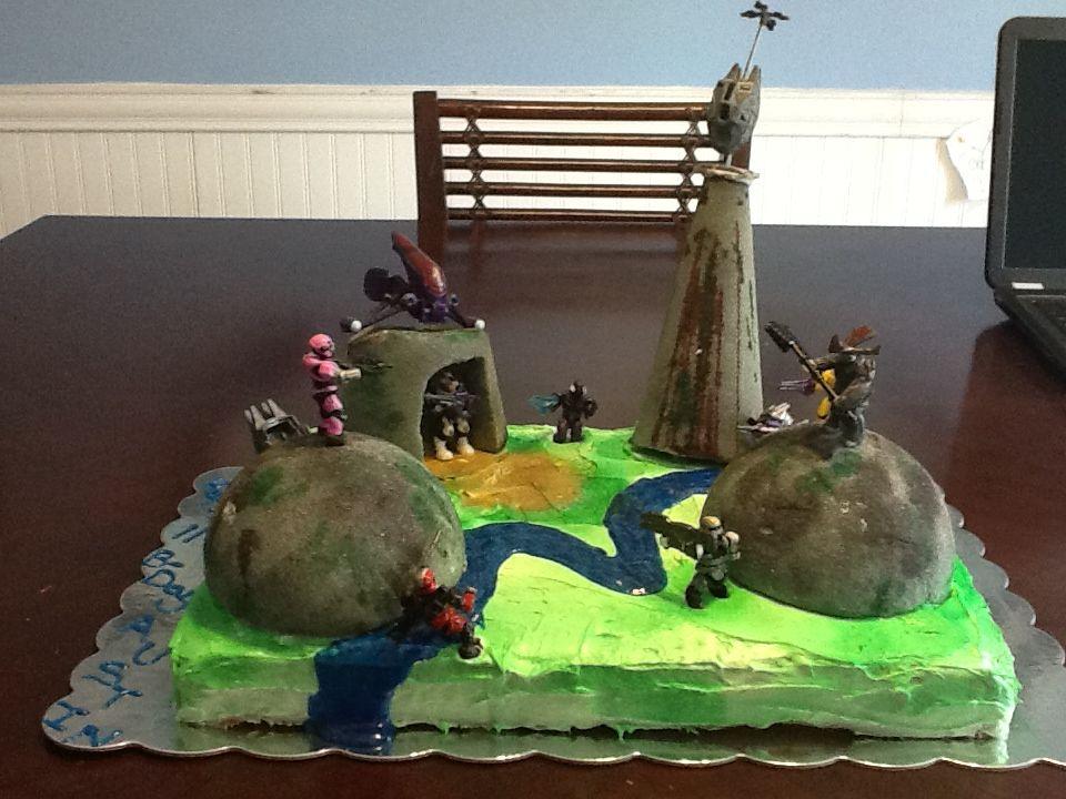 Halo cake for my austin happy 11th birthday