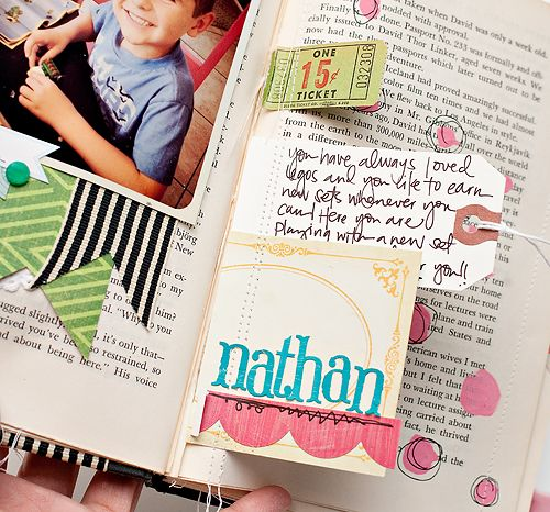 happy little moments - class registration ends 2.29.2012 www.studiocalico....    sneak of a project by teacher Maggie Holmes