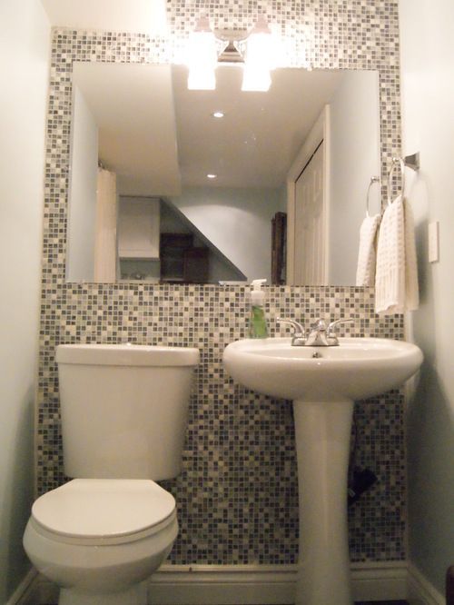 Small 1 2 Bathroom Ideas Custom Of Tiny Half Bath Home Design Ideas Pictures Remodel And Decor Tiny Half Bath Laundry In Bathroom Bathrooms Remodel