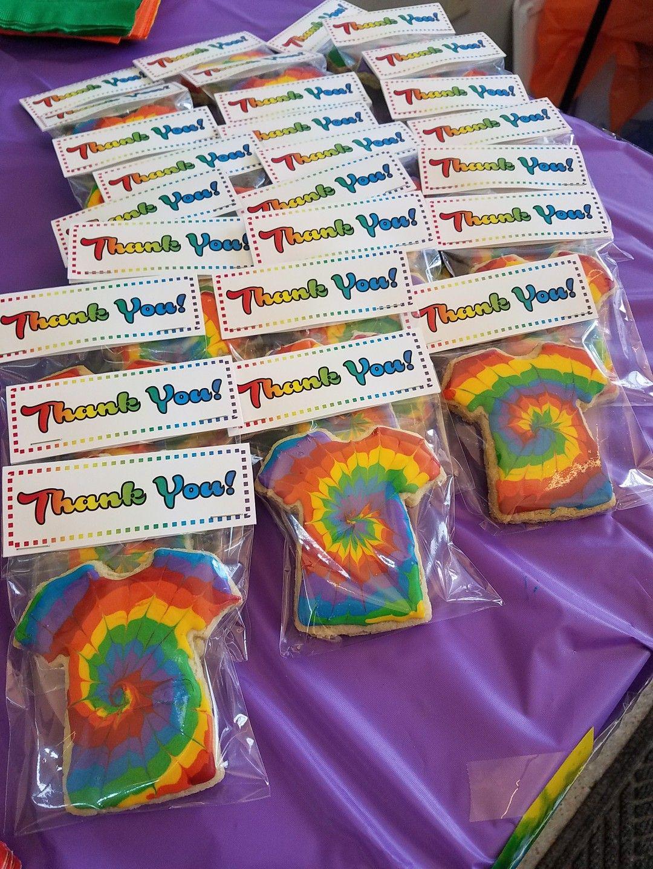 Rainbow Tie Dye T Shirt Sugar Cookies And Royal Icing