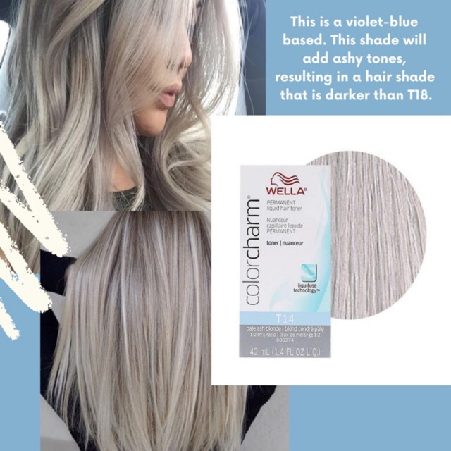 Wella Color Charm T14 Pale Ash Blonde Toner Ash Blonde Charm Color Pale T14 In 2020 Blonde Toner Brown Hair With Blonde Highlights Hair Styles