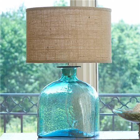 This table lamp is made from this thick rippled recycled