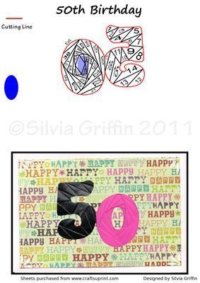 50Th Birthday  on Craftsuprint - View Now!