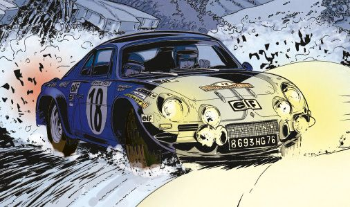 Papazoglakis paquet bernard alpine a110 ralli - Dessin de aloine ...