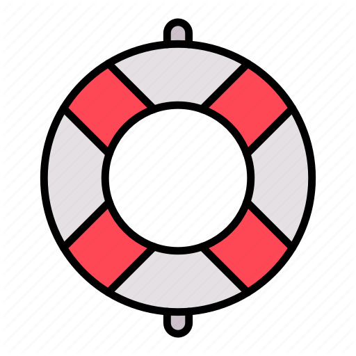 Buoy Life Saver Icon Download On Iconfinder Summer Icon Icon Vector Character