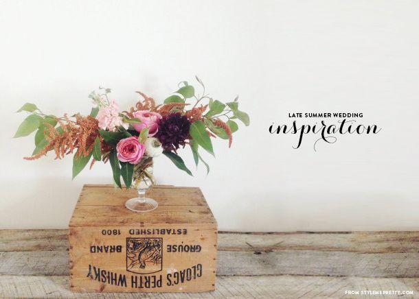 Late Summer Wedding Flowers - Earnest Home co.   Wedding Flowers ...