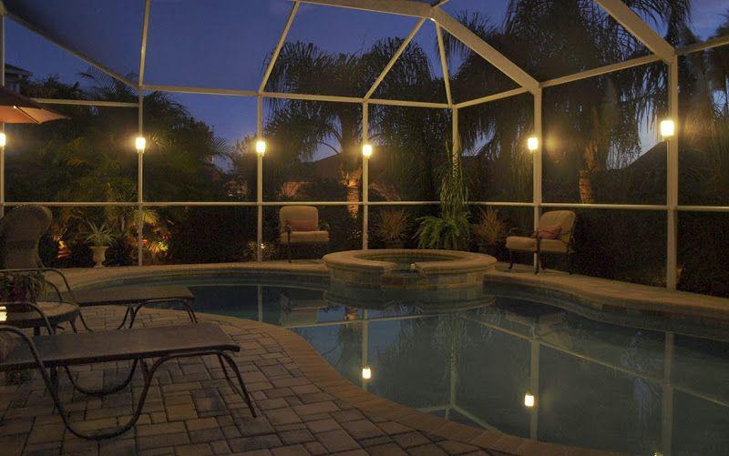 pool enclosure lighting. Lanai Lights Gallery Pool Enclosure Lighting