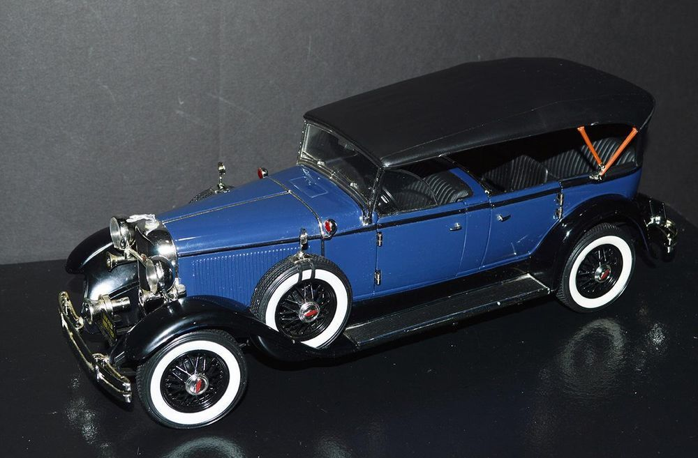 Ricko Die Cast Car 1/18 scale 1931 Lincoln Model K Blue, black top ...