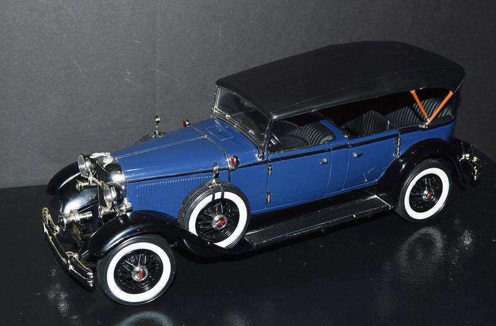 Ricko Die Cast Car 1/18 scale 1931 Lincoln Model K Blue, black top ...