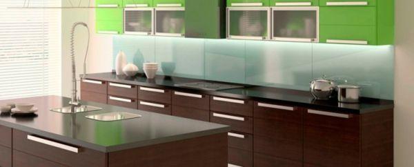 frische farben bei der ausstattung der küche - 41 interessante Küchenspiegel Ideen für die Wohnung