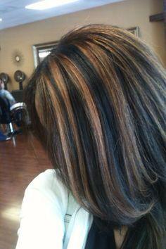 Lighter Highlights For Darker Hair Colors Black Hair
