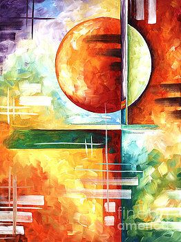 abstract original art contemporary colorful painting by megan