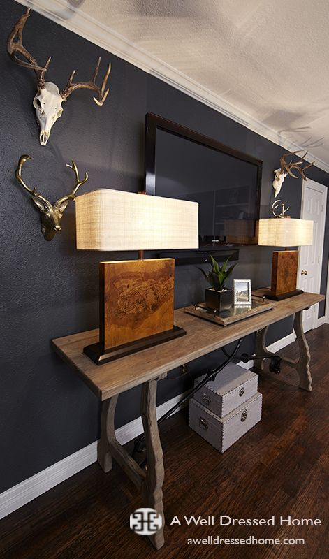 Captivating Before U0026 After: A Masculine Home Office