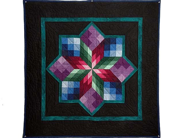 wedding ring quilt pattern, stained glass | Stained Glass ...