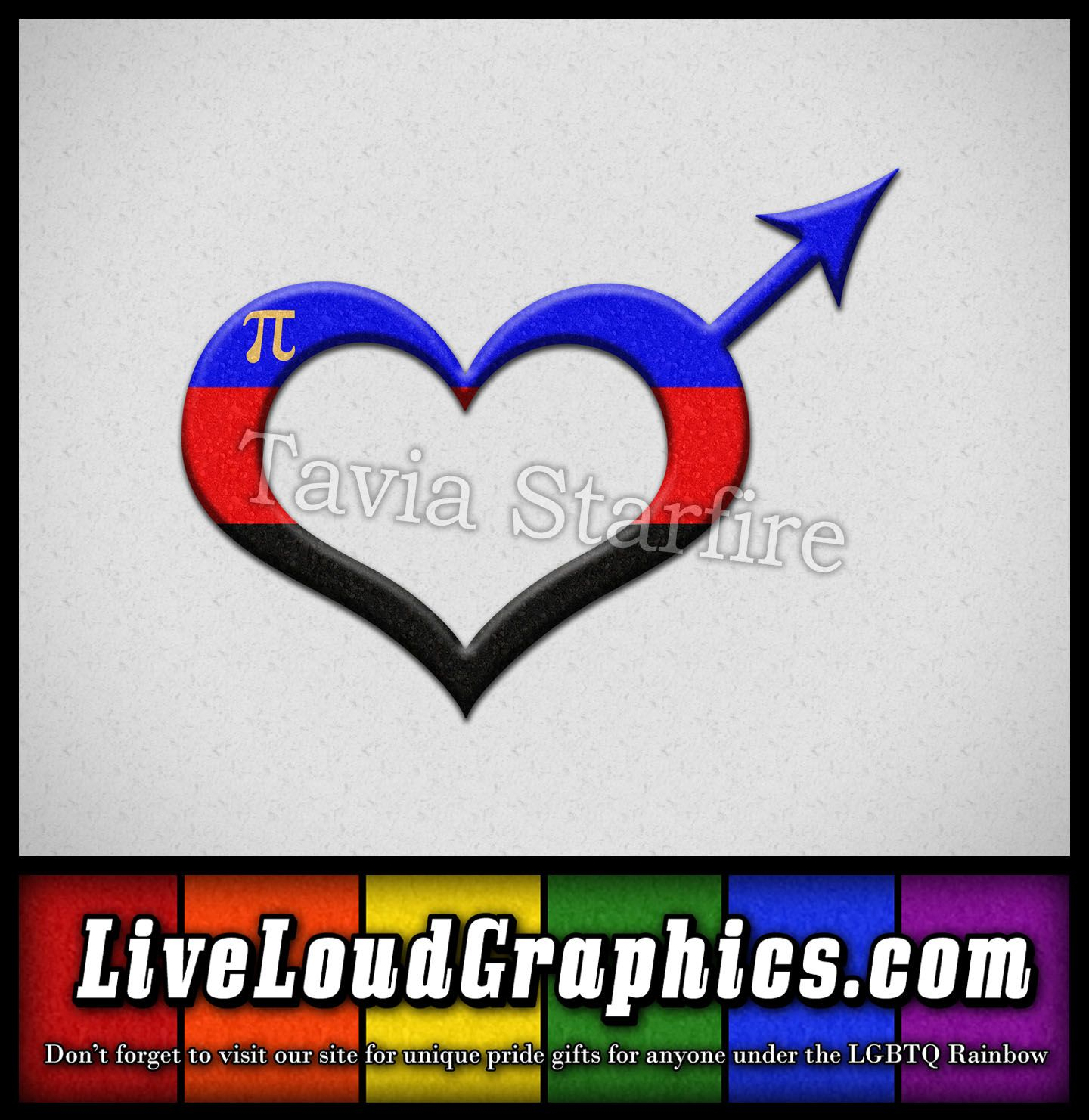Polyamory Pride Heart Shaped Male Gender Symbol In Matching Pride