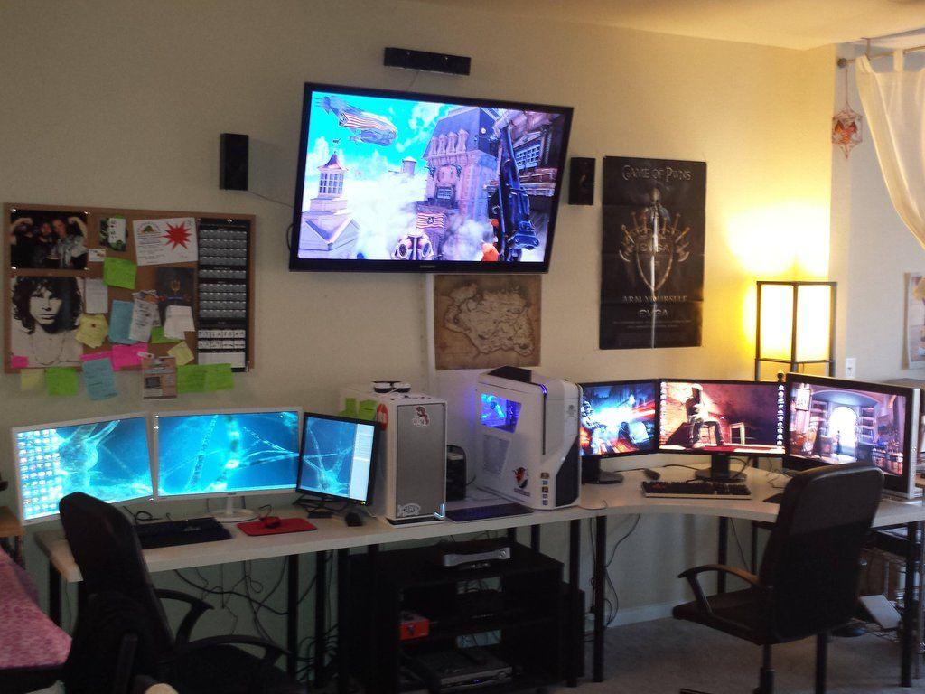 Battlestation Arbeitszimmer In 2019 Gamer Zimmer