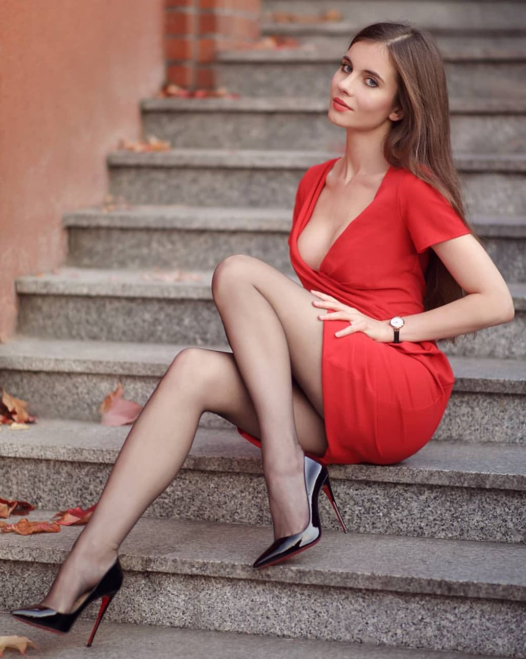 Sexy nylons and heels