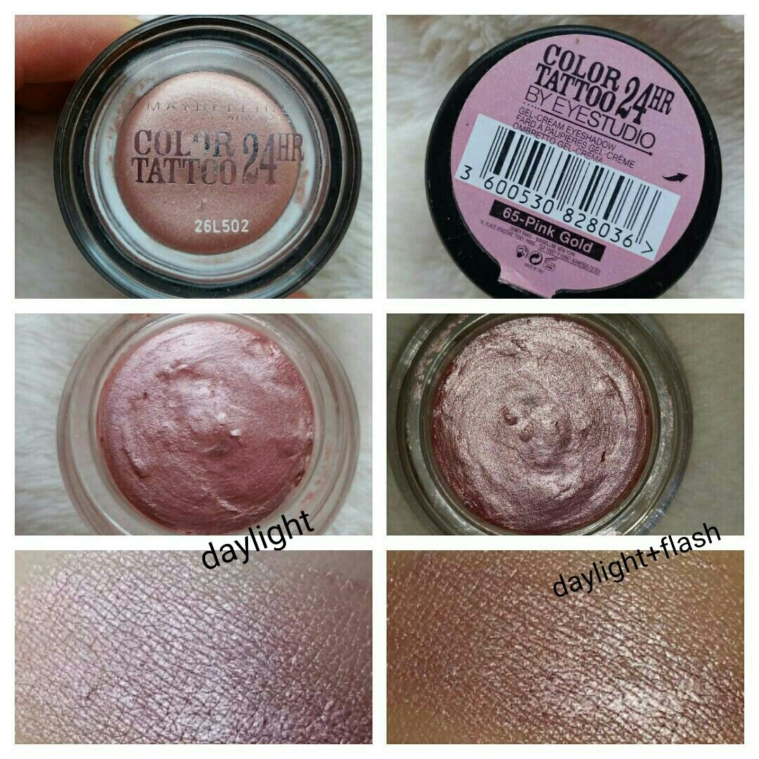 Maybelline Color Tatto 24hr 65 Pink Gold Maybelline Color Maybelline Color Tattoo Pink And Gold