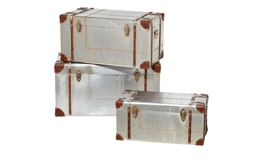 3er-Set Aufbewahrungsboxen Falcone Höffner, Aufbewahrungsbox und