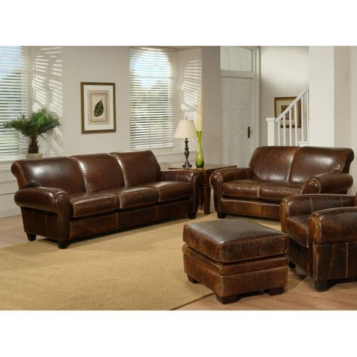 Plaza - Top Grain Leather Sofa and Loveseat. COSTCO. Now ...