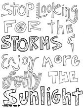 all quotes coloring pages thesew ould be cute to print and color and frame