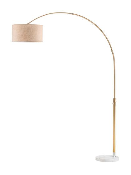 Float arc lamp rose gold by nova lighting at gilt