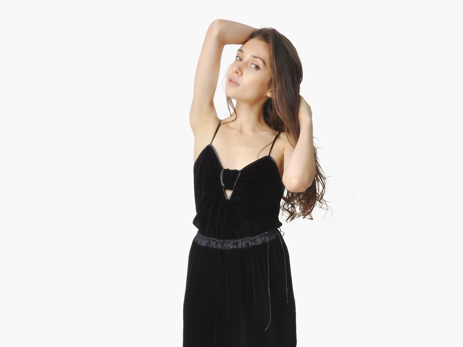 Vintage janice wainwright black velvet dress black velvet and products