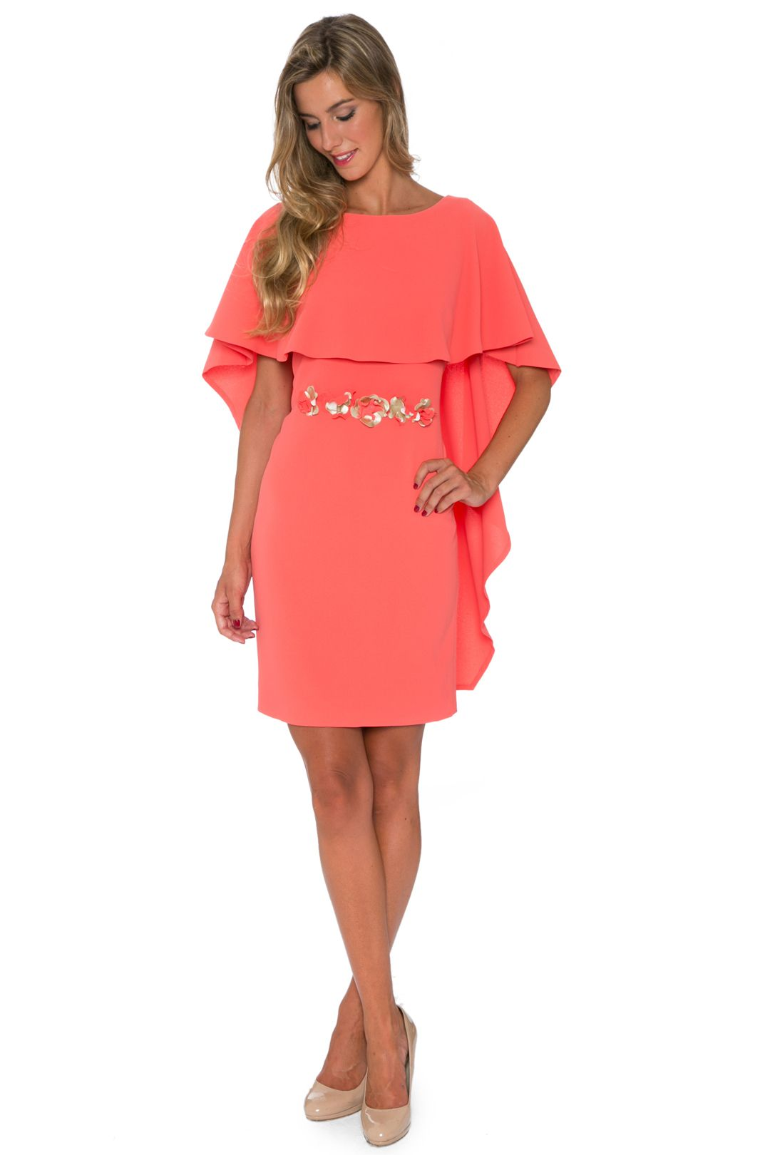 880c2e8a0 Vestido Coral Capelina - Alquiler de Vestidos - La Más Mona