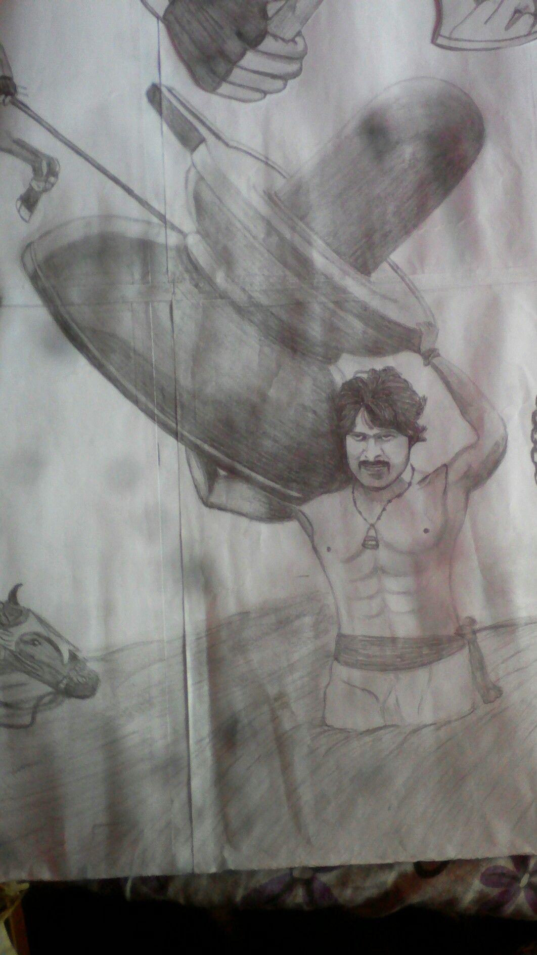Bahubali2 drawing bahubali 2