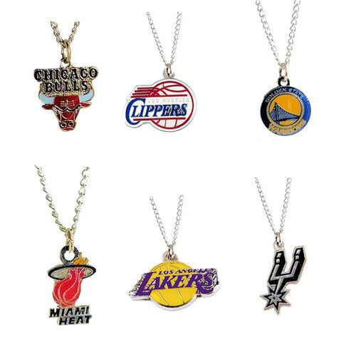 NBA Necklace Team Logo Charm  http://mytopnotchproducts.com/products/nba-necklace-team-logo-charm