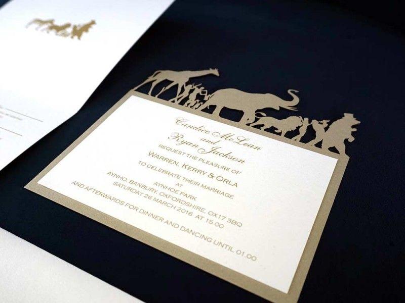 bespoke-laser-cut-animal-gold-wedding-invitation-1 | Invitations ...