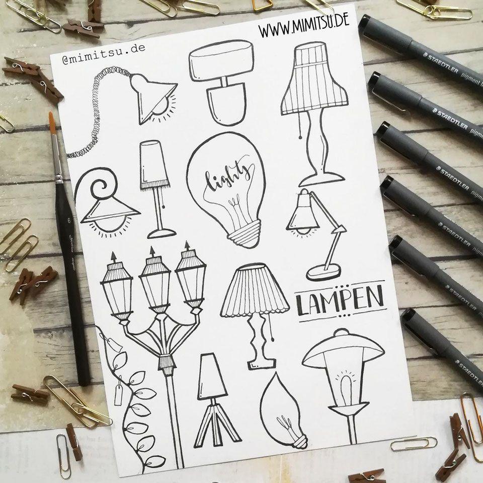 Bullet Journal Weekly November Wochenubersicht Ideen Doodle Lampe Bullet Journal Skizzenbucher Journal