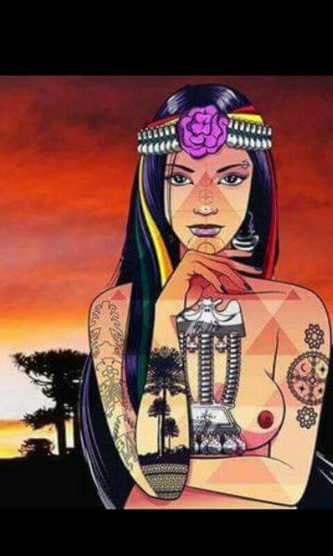 Pin De William Brown En Heros Arte Mapuche Arte Indigena Rostros De Arte