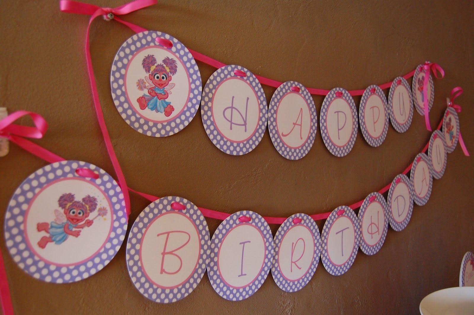 Abby Cadabby banner--paper plates? & Abby Cadabby banner--paper plates? | Abby/Elmo Birthday Party ...