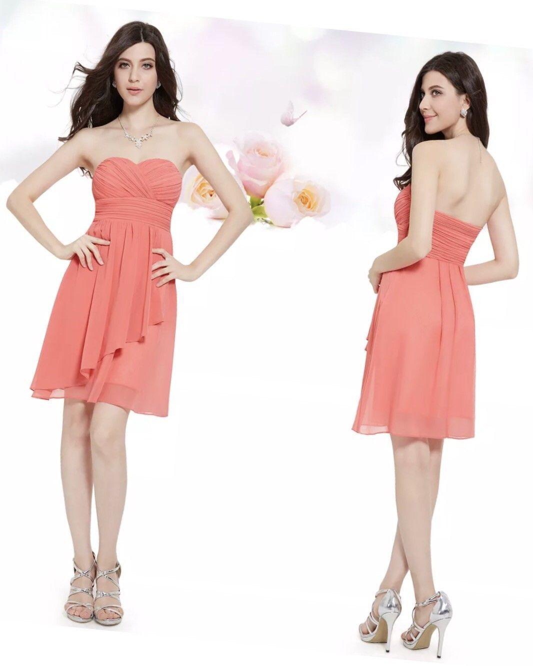 Nice womenus bridesmaid prom homecoming short dress ever pretty size