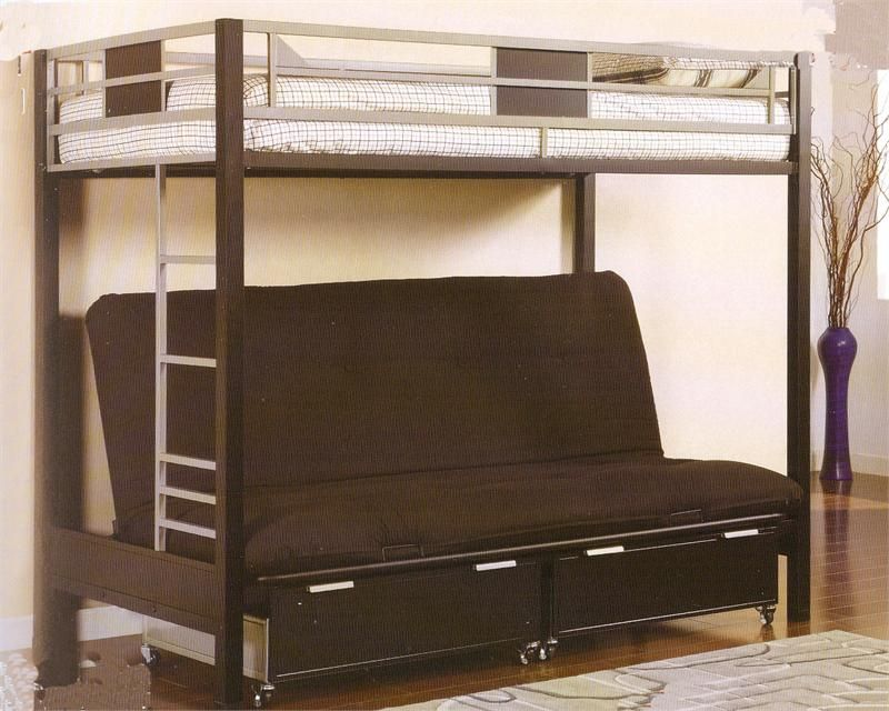 silver  u0026 black metal twin futon bunk bed silver  u0026 black metal twin futon bunk bed   futon bunk bed bunk      rh   pinterest