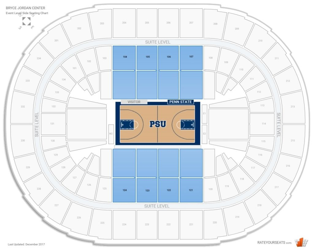 The Most Brilliant Bryce Jordan Center Seating Chart Di 2020